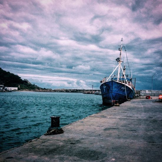 Cloud - Sky Nautical Vessel Water Sea Transportation Mode Of Transport Outdoors Tranquility No People IPhoneography Fine Art Photography Urbanphotography Eye4photography  Port Navy Scenics December Tunisia Beauty In Nature Africa Place Of Heart The Great Outdoors - 2017 EyeEm Awards