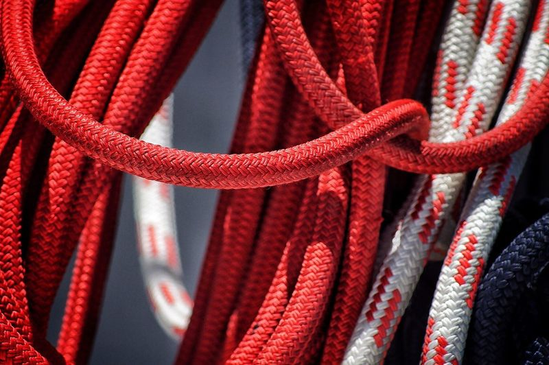 Close Up Of Red Ropes