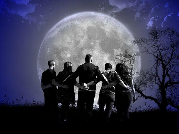 Moonwalk Friends Friendship Surreal Surrealism Walking Moonlight Moon Night Sky Nature