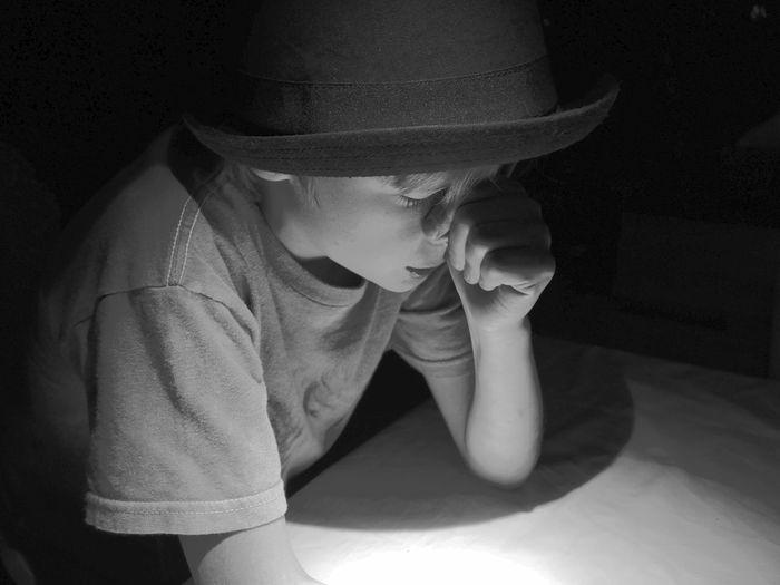 Depression - Sadness Child Fragility Portrait Boy Thinkfull One Person