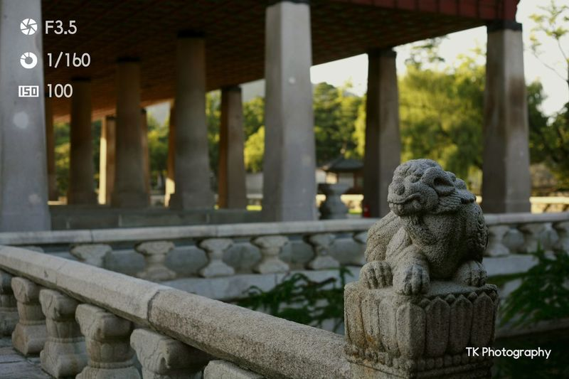 """Watcher of the bridge"" #gyeuongbokgungpalace #korea #3october #canon TK PHOTOGRAPHY Korea Heritage Canonphotography EyeEm Selects Eyemphotography Eyemhistorical Outdoor Photography Garden #palace"