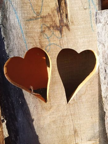 Two Of A Kind Two Objects Two Is Better Than One Two Two Hearts Heart Heart ❤ Hearts Love Lovelovelove Wooden Texture Misshappiness Textures And Surfaces Wood Background Backgrounds Background Texture