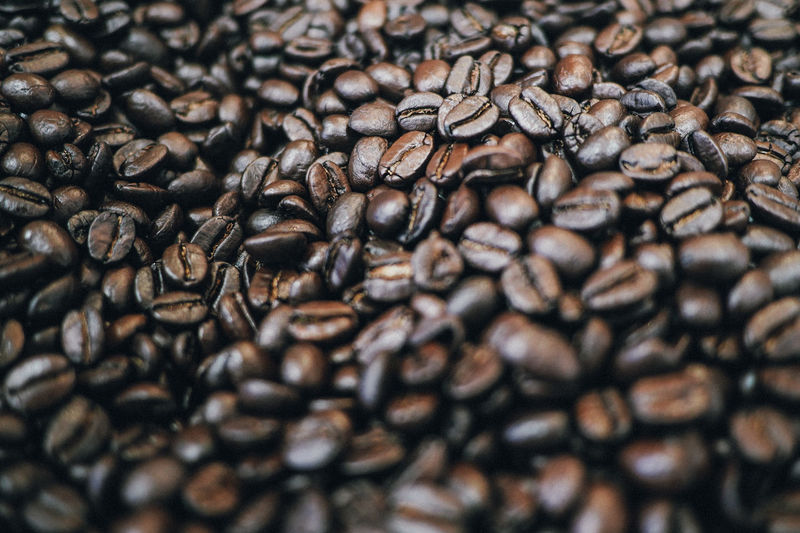 Full Frame Shot of Freshly Roasted Coffee Beans Backgrounds Brown Close-up Coffee Bean Day Food Food And Drink Freshness Full Frame Image Focus Technique Indoors  Japan Large Group Of Objects No People