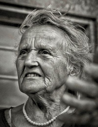Adult Adults Only Close-up Day Grandmother Gray Hair Headshot Human Body Part Human Face One Person One Senior Woman Only One Woman Only Only Women Outdoors People Portrait Real People Senior Adult Senior Women Women Wrinkled