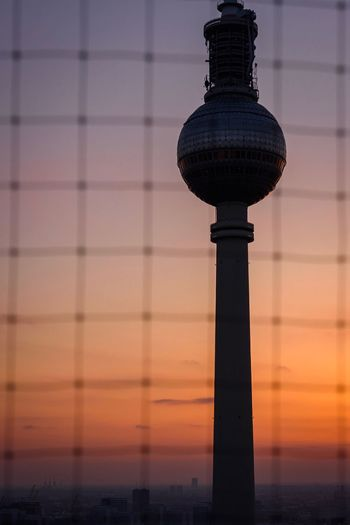 In Berlin with Love Sunset Dusk Sky Architecture No People Built Structure Outdoors Colour Your Horizn