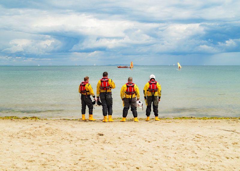 Knoll Beach Studland Studlandbay Studland Bay National Trust RNLI Lifeboat RNLI Lifeboat Crew Volunteers Volunteering Crew Dorset Dorset Coast Coast Coastal Seaside Yellow