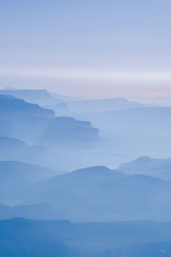 View Views Balloon Beauty In Nature Early Morning Fog Hot Air Balloon Idyllic Landscape Landscape_photography Layers Mountain Mountain Peak Mountain Range Mountains Mountains And Sky Nature No People Outdoors Scenics Sky Tranquil Scene Tranquility View From Above Viewpoint