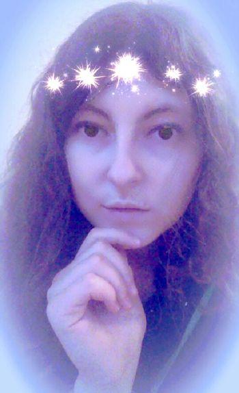 Selfportrait Selfie Princess Star Eyes Snap Snapchat Filtr