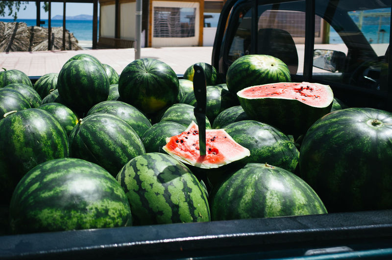 Fresh Watermelons In Pick-Up Truck