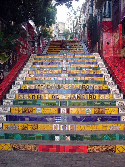 Escadaria Selarón Day No People Outdoors Travel Travel Destinations The Week On EyeEm Mix Yourself A Good Time Paint The Town Yellow