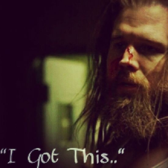 """This pic i edited from the saddess episode of Sons Of Anarchy I have ever seen. Opie.. gave his life to save the guy that killed his wife, and to save his club. I will never forget this brutality and i will miss Opie, i know he was a made upcharacter but he is my fave character. Right before he was beat todeth all he told the rest of the club was """"i got this"""". Making that a most memorable quote the entire tv series. And becoming my favirite quote. Love you Opie. I will miss you. Day4 FaveQuote OpieWinston SoA FaveCharacter RIPOpie InMemoryOfOpie IGotThis"""