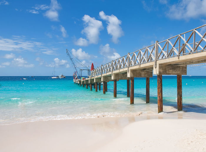 Bridgetown, Barbados - Tropical island - Caribbean sea - Brownes beach - Carlisle bay Atlantic Barbados Bridgetown Coastline Pier Antilles Beach Beauty In Nature Blue Day Horizon Over Water Island Nature Ocean Outdoors Quay Sand Scenics Sea Sky Tranquility Tropical Turquoise Water Wharf
