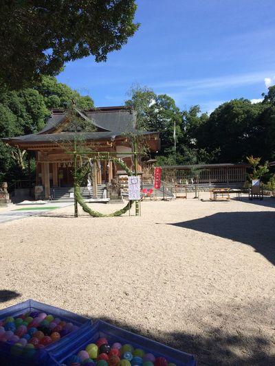 夏越し祭 small festival for summer; hoping a healthy and sound life...