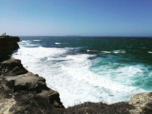 Sea Horizon Over Water Rock - Object Nature Wave Water Sky Beauty In Nature Vacations Scenics Travel Destinations Clear Sky Blue Day Peniche Portugal