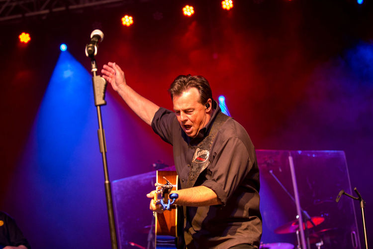 Sammy Kershaw in concert. Arts Culture And Entertainment Concert Concert Photography Concerts Enjoyment Illuminated Instruments Night Portrait Sammy Kershaw
