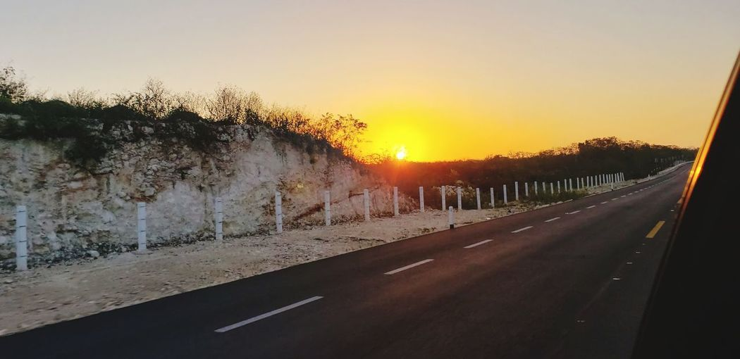 The Great Outdoors - 2019 EyeEm Awards Tree Sunset Cold Temperature Road Winter Sunlight Snow Sky