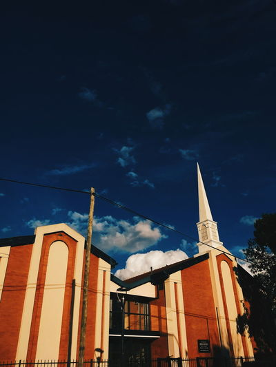 Church Cloud Cloudy White Cloud Blue Sky God Ahre Architecture Low Angle View Built Structure Building Exterior Outdoors No People Sky City