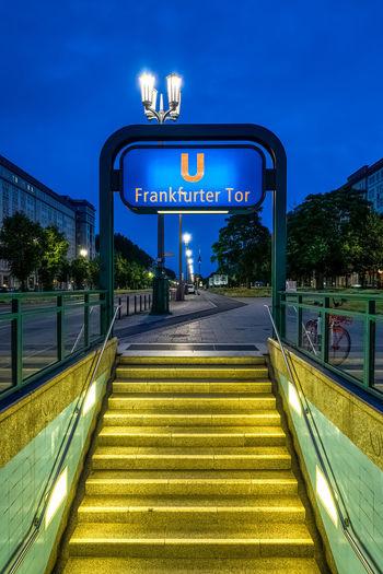 Friedrichshain Friedrichshain Berlin Germany Deutschland Travel Travel Destinations Neon Illuminated City Text Sky Architecture
