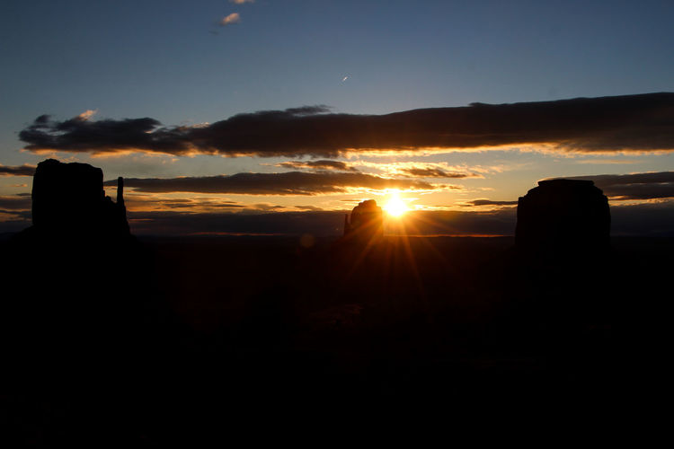 Sky Sunset Silhouette Cloud - Sky Sun Beauty In Nature Orange Color Scenics - Nature Nature Tranquil Scene Sunbeam Tranquility Sunlight No People Lens Flare Environment Landscape Outdoors Idyllic Non-urban Scene Bright Sunrise Arizona Sunsets Arizona Sky