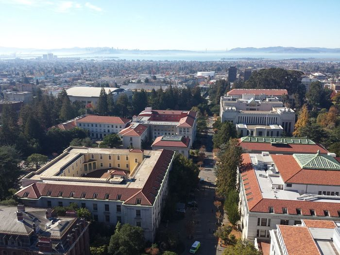 Architecture City Building Exterior Cityscape High Angle View Built Structure Travel Destinations Aerial View Outdoors Urban Skyline Sky No People Day Tree The Bay Area Berkeley, CA Berkeley Ucberkeley Universityofcalifornia Cloud - Sky City Architecture Cityscape Tower Skyscraper