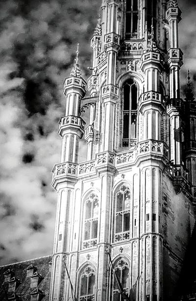 Grandplace❤ Brussels Townhall Tower Gothic