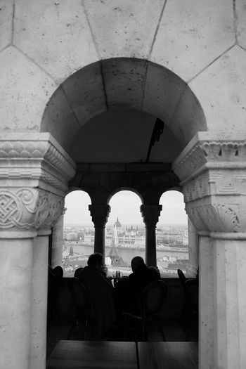 Budapest Blackandwhite Photography Bnw Monochrome Leica CL City Politics And Government Architectural Column History Arch Ancient Place Of Worship Architecture Built Structure