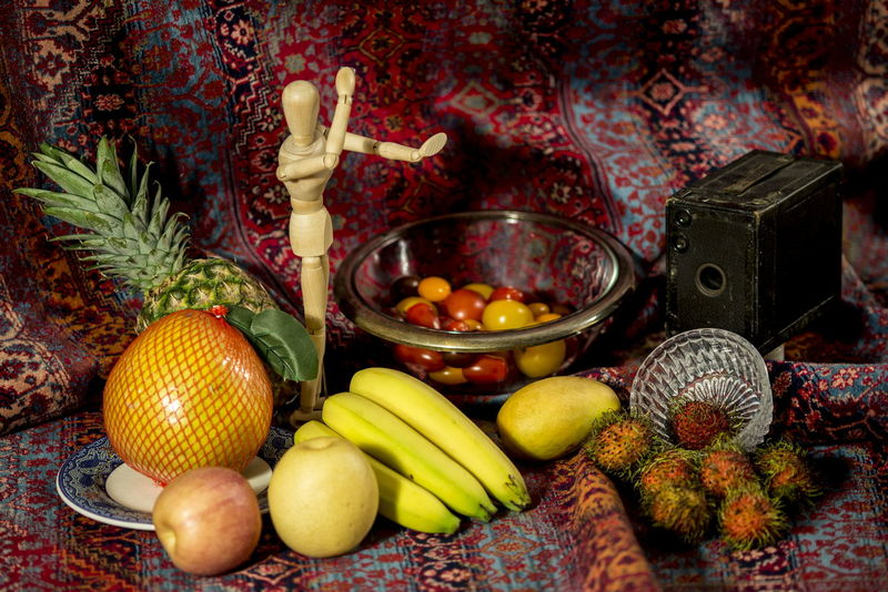 Still life on a carpet Camera - Photographic Equipment Food Food And Drink Freshness Fruit Healthy Eating Indoors  No People