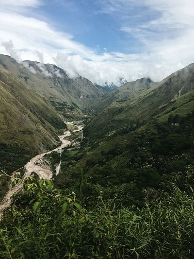 On our way to Machu Picchu 📍Peru Machu Picchu Lake Peru Beauty In Nature Mountain Plant Scenics - Nature Tranquility Cloud - Sky Tranquil Scene Landscape Environment No People Nature Green Color Mountain Range Land Non-urban Scene Sky Growth Tree Day Idyllic