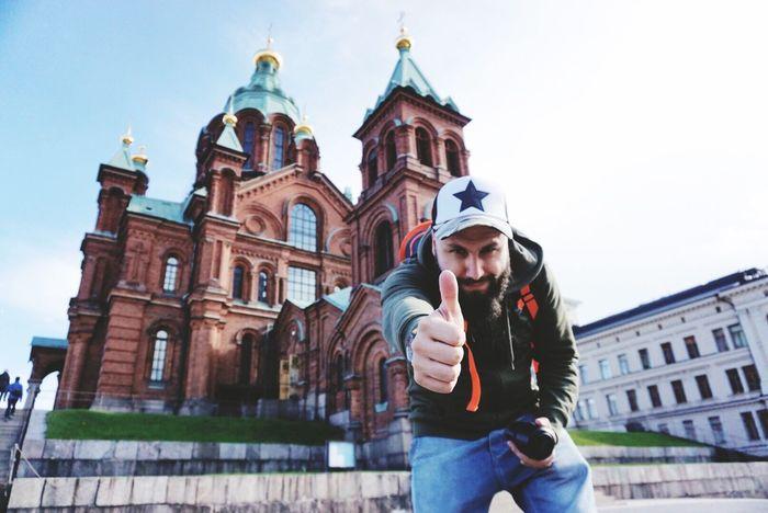 Finland Helsinki Beard City Church