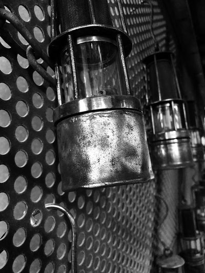 Coal mining Blackandwhite Oil Lamps Coal Mine Metal Indoors  Close-up No People Food And Drink Drink Day