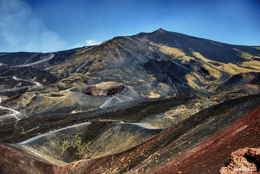 Sicily Sicily, Italy Beauty In Nature Blue Sky Geology Mountain Nature No People Non-urban Scene Outdoors Rock - Object Scenics Sky Volcanic Crater Volcanic Landscape Volcano