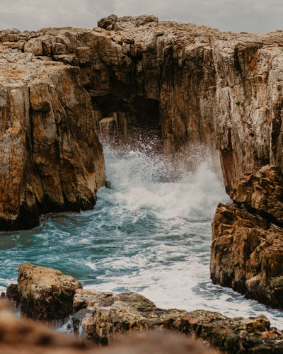 Rock Rock - Object Solid Water Motion Beauty In Nature Rock Formation Sea Scenics - Nature Nature No People Land Day Sport Tranquility Long Exposure Outdoors Non-urban Scene Power In Nature Flowing Water Flowing Eroded