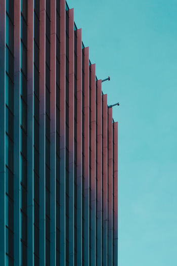Built Structure Architecture Building Exterior Blue Sky No People Day Building In A Row Low Angle View Nature Outdoors Clear Sky Repetition Pattern Metal Office Building Exterior Fence City Side By Side Turquoise Colored