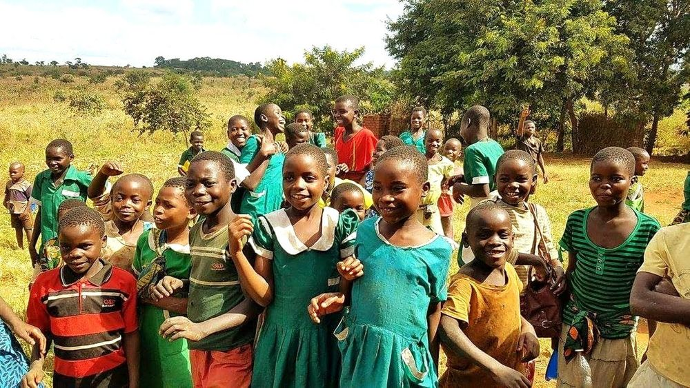 Africa African Children Child Mission Mission Trip Childhood Leisure Activity Smile Faith Tree Togetherness Men Fun Sky