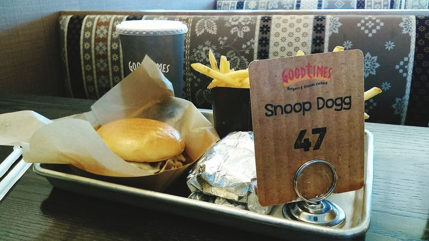 Food Burgers & Fries Good Times Good Food First Time Here Fast Food Restruant Snoopdogg Lol :)
