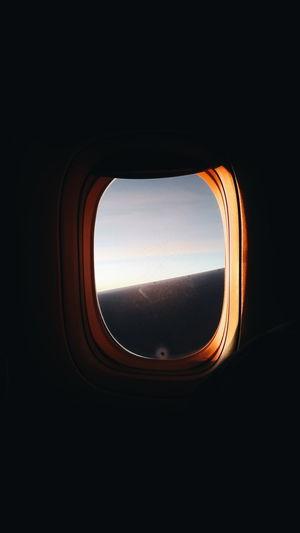 🛫 Sky Plane Sunrise Window