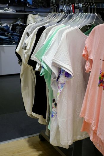 Summer Casual Clothing Comfortable Clothing Coathanger Retail  Shopping Indoors  Hanging Rack In A Row Store Fashion Clothing Store People Retail Display Laundry Textile Business Standing Clothes Rack Clean Choice Consumerism Summer Casual Clothing Casual Looking At Camera Womenswear Clothesline