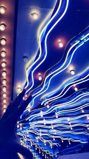Texture Night Lights Nightlife Movietheater