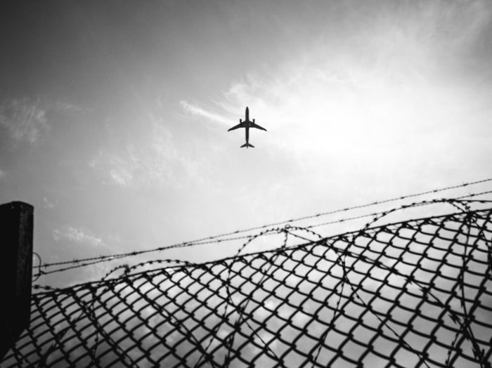 fly away City Airplane Flying Military Air Vehicle Silhouette Sky Plane Chainlink Fence Runway Wire Mesh Grid Crisscross Hexagon Love Lock Chainlink Padlock Security Barbed Wire Helicopter Fence Airshow Military Airplane Fighter Plane Aircraft Wing Razor Wire The Mobile Photographer - 2019 EyeEm Awards