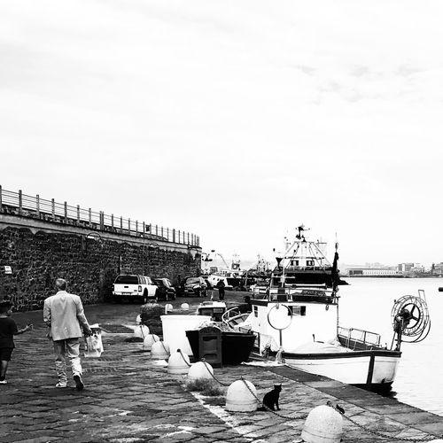 Fishing Port Fishing Boats ProvokeCamera Blackandwhite Photography Black & White Photography Port People Sea Provoke Camera Provoke Outdoors Black And White Photography