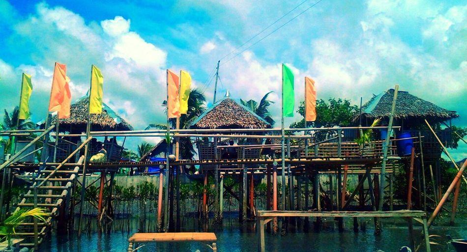 Nipa Hut Tropical Summer Summersky