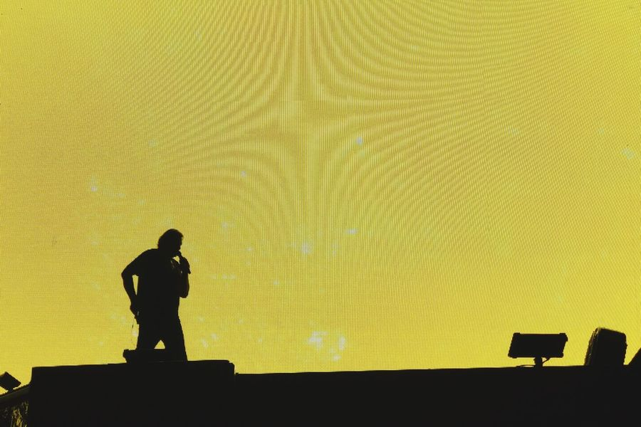 Sound Check Yellow Light Silhouette Shadows & Lights Stage Rock N Roll One Person Indoor Photography Arena One Man Only