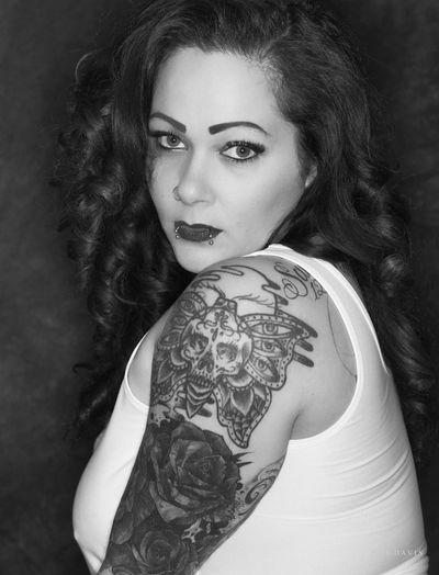 Nikon Adult Beautiful Woman Beauty Black And White Hairstyle Leisure Activity Lifestyles Long Hair Looking At Camera Monochrome On1 One Person Portrait Real People Tattoo Women Young Adult Young Women