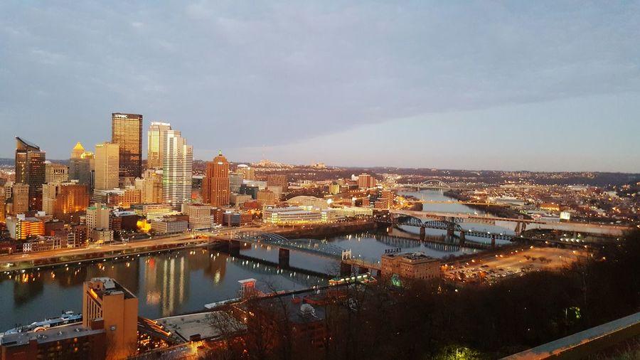 Mount Washington  Pittsburgh Pittsburgh Pennsylvania Cityscape City Urban Skyline Travel Destinations