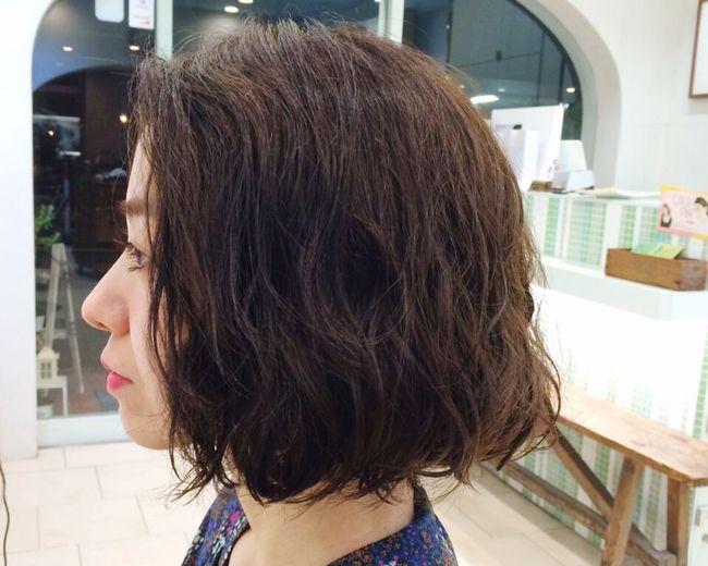 Hair Salon ANTIgREEN アンティグリーン 年下とは思えない色気と雰囲気。。羨ましい😭早く私もボブまで伸びないかなー😢