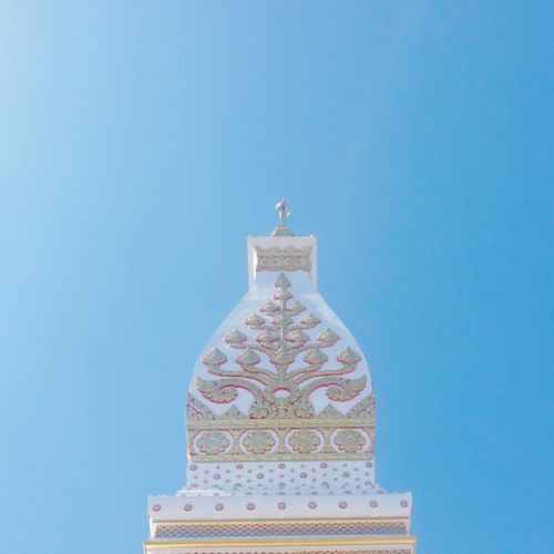Blue Clear Sky Travel Destinations Religion Sky Temple Templephotography Temple In Thailand Temple Thailand Phathatphanom Nakornphanomslowlife Nakornphanom Thailand