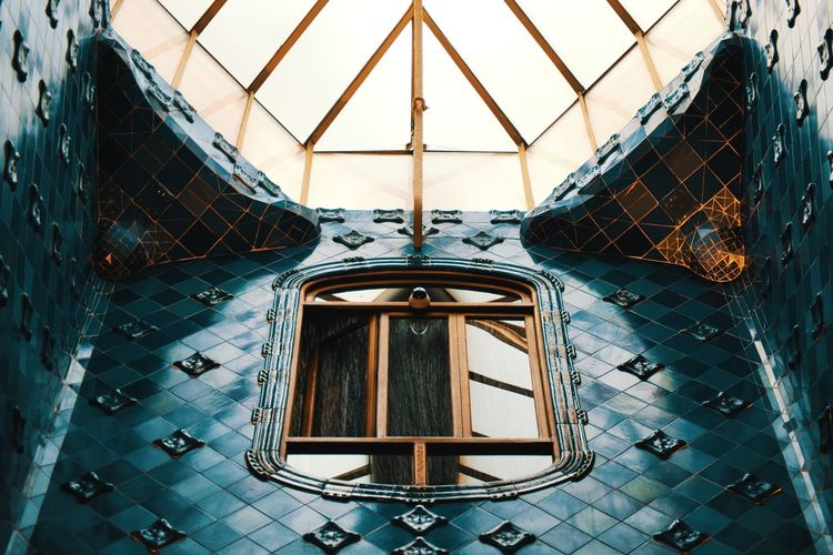Architecture Built Structure No People Indoors  Day Glass - Material Low Angle View Building Window Lighting Equipment Pattern