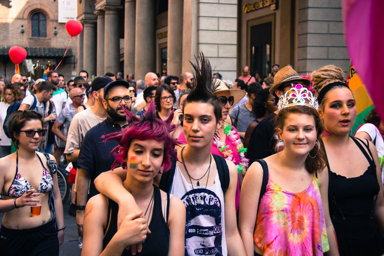 Gay Pride in Reggio Emilia ( 3rd June 2017 ) to protest against Xenophobia, Homophobia and for Gay Marriage and rights Couple Gay Pride Love Multi Colored People Portrait Real People The Photojournalist - 2017 EyeEm Awards The Portraitist - 2017 EyeEm Awards The Street Photographer - 2017 EyeEm Awards Young Adult