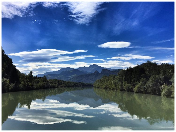 Salzach Water Reflections EyeEm Nature Lover River Beautiful Nature Nature_collection Salzburg EyeEm Best Shots Mountains Clouds And Sky
