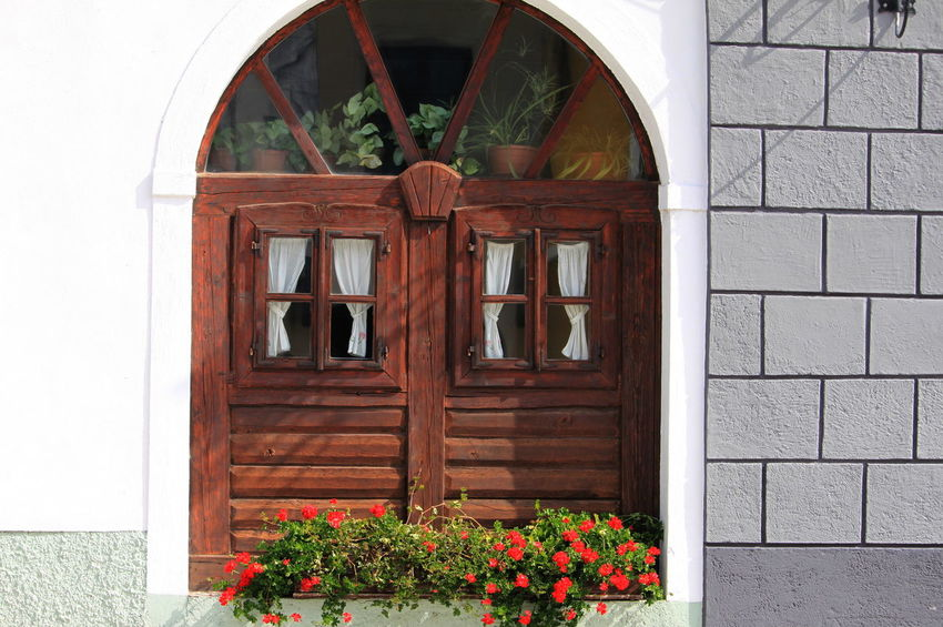 Slovenia Arch Architecture Brick Building Exterior Built Structure Day Flower Pot Flowering Plant No People Outdoors Radovljica September 2018